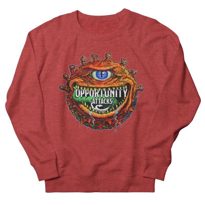 Opportunity Attacks Beholder Men's French Terry Sweatshirt by Joe Abboreno's Artist Shop