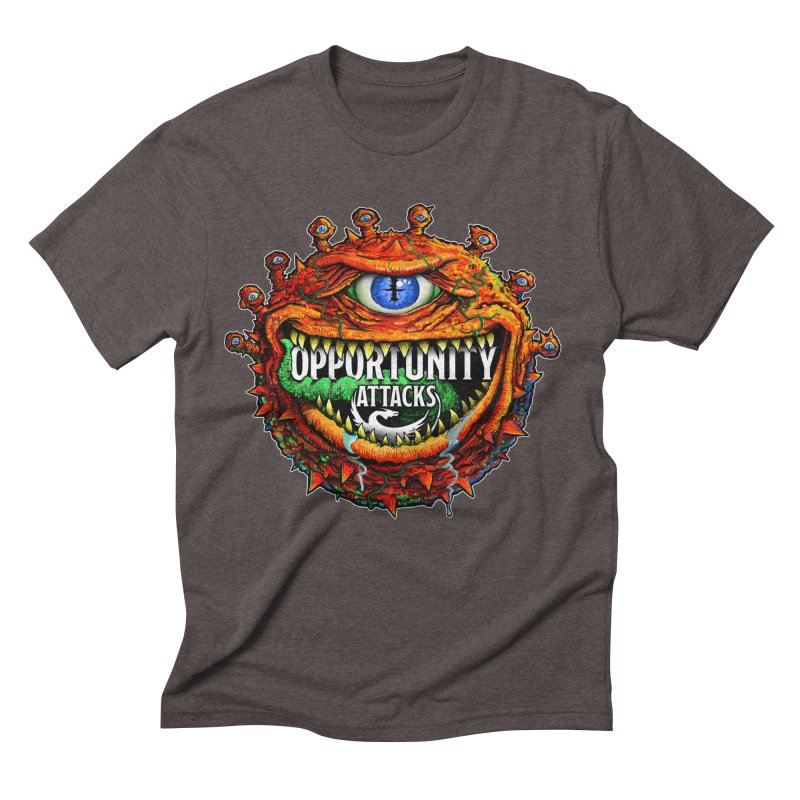 Opportunity Attacks Beholder Men's Triblend T-Shirt by Joe Abboreno's Artist Shop