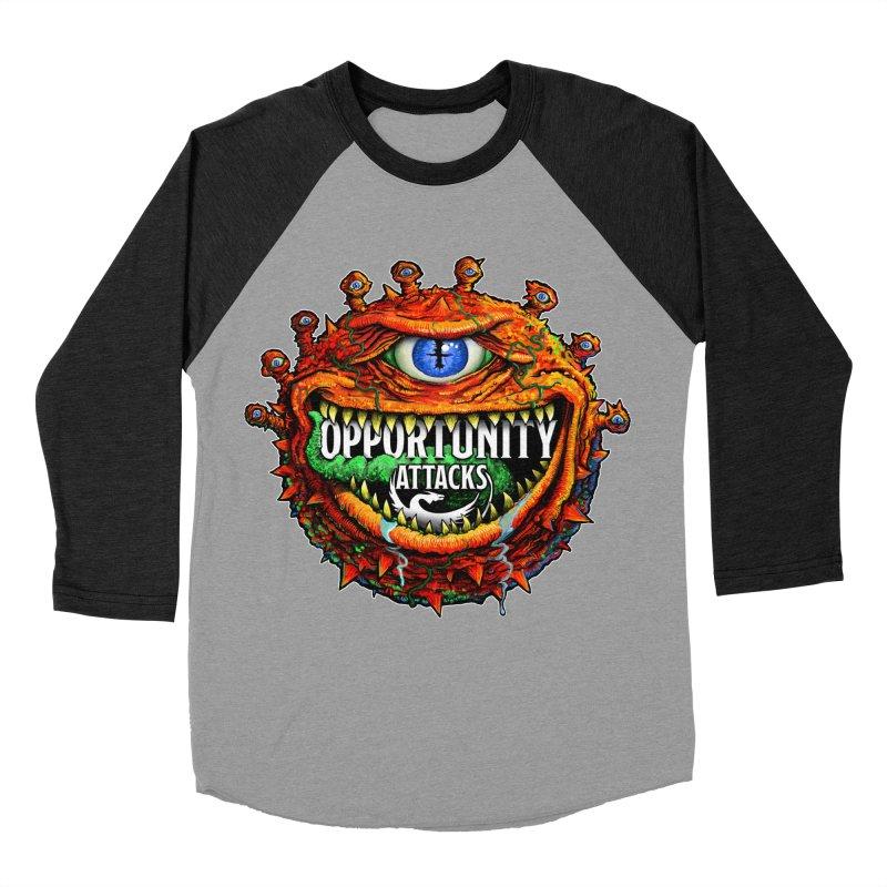 Opportunity Attacks Beholder Women's Baseball Triblend Longsleeve T-Shirt by Joe Abboreno's Artist Shop
