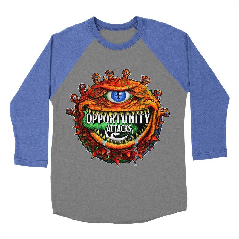 Opportunity Attacks Beholder Men's Baseball Triblend Longsleeve T-Shirt by Joe Abboreno's Artist Shop