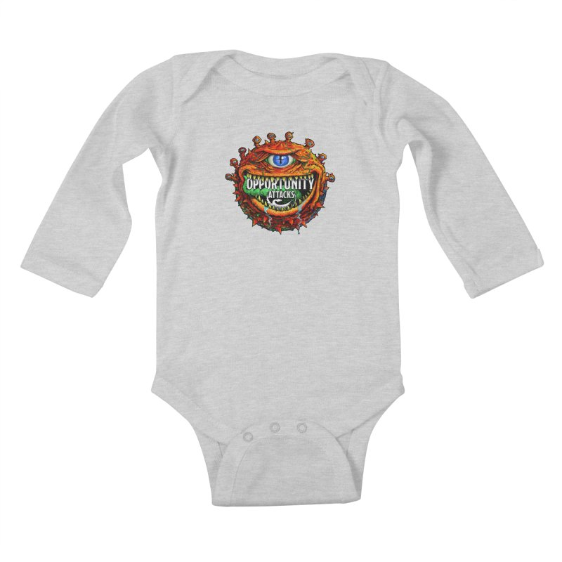 Opportunity Attacks Beholder Kids Baby Longsleeve Bodysuit by Joe Abboreno's Artist Shop