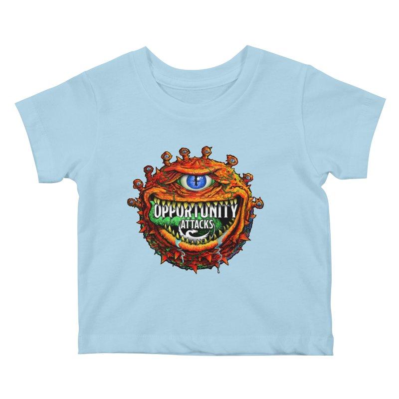 Opportunity Attacks Beholder Kids Baby T-Shirt by Joe Abboreno's Artist Shop