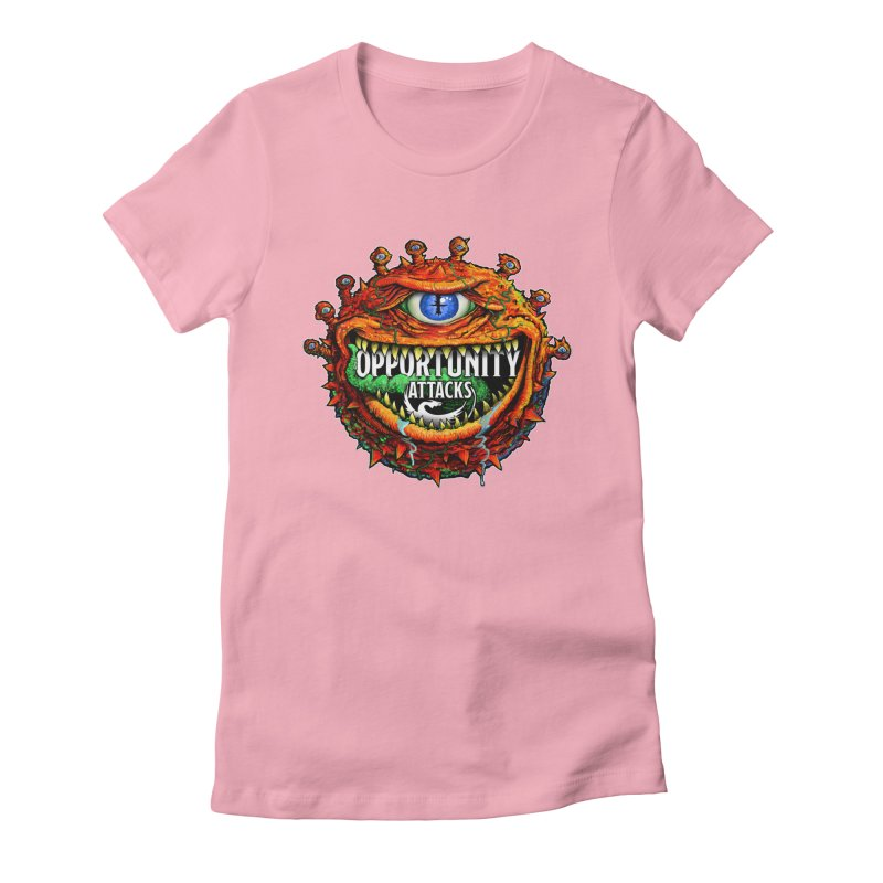 Opportunity Attacks Beholder Women's Fitted T-Shirt by Joe Abboreno's Artist Shop
