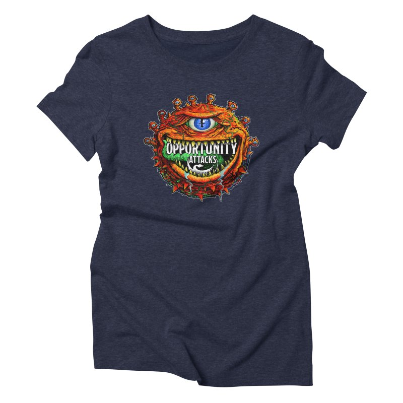 Opportunity Attacks Beholder Women's Triblend T-Shirt by Joe Abboreno's Artist Shop