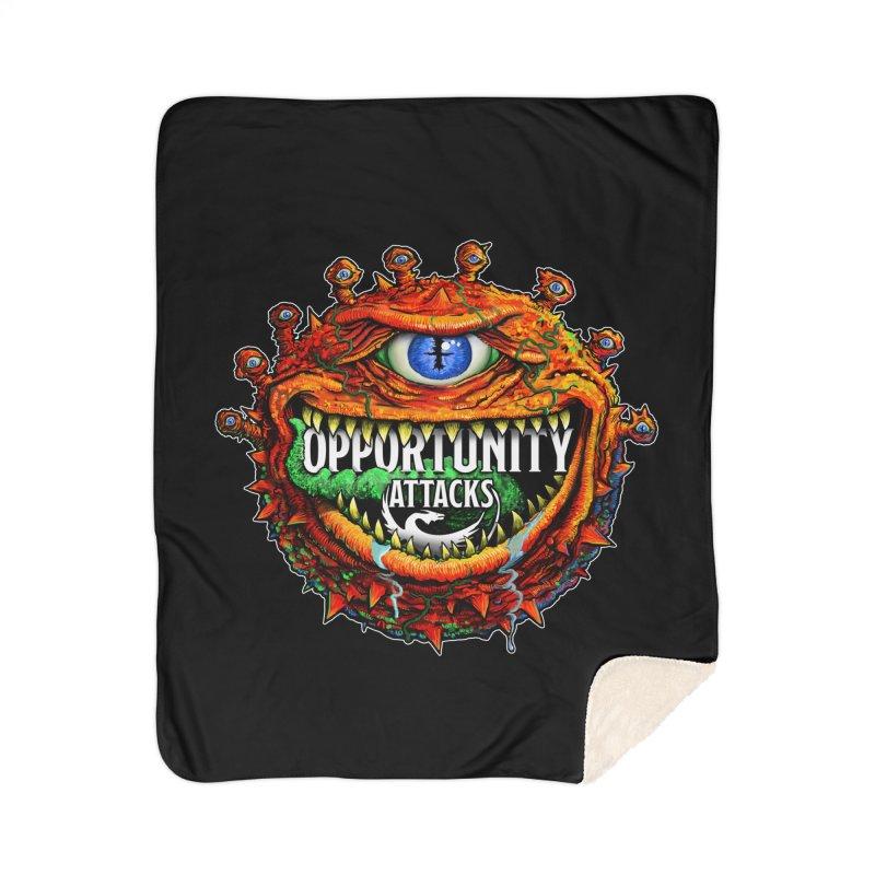 Opportunity Attacks Beholder Home Sherpa Blanket Blanket by Joe Abboreno's Artist Shop