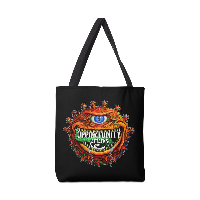 Opportunity Attacks Beholder Accessories Tote Bag Bag by Joe Abboreno's Artist Shop