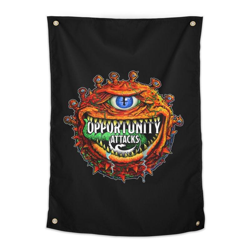 Opportunity Attacks Beholder Home Tapestry by Joe Abboreno's Artist Shop