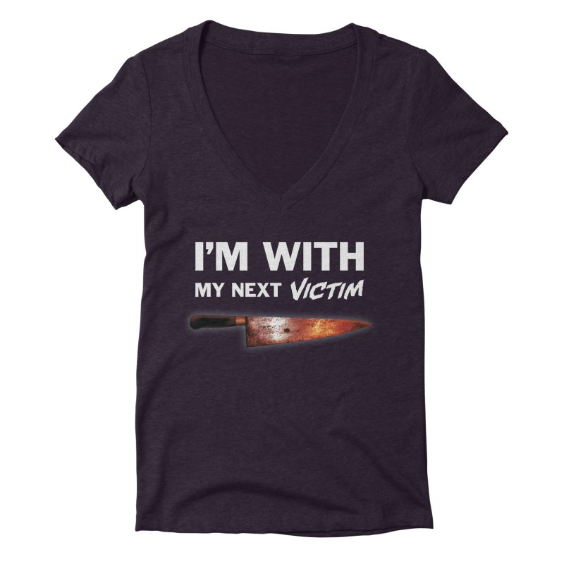 I'm With My Next Victim Women's Deep V-Neck V-Neck by Joe Abboreno's Artist Shop