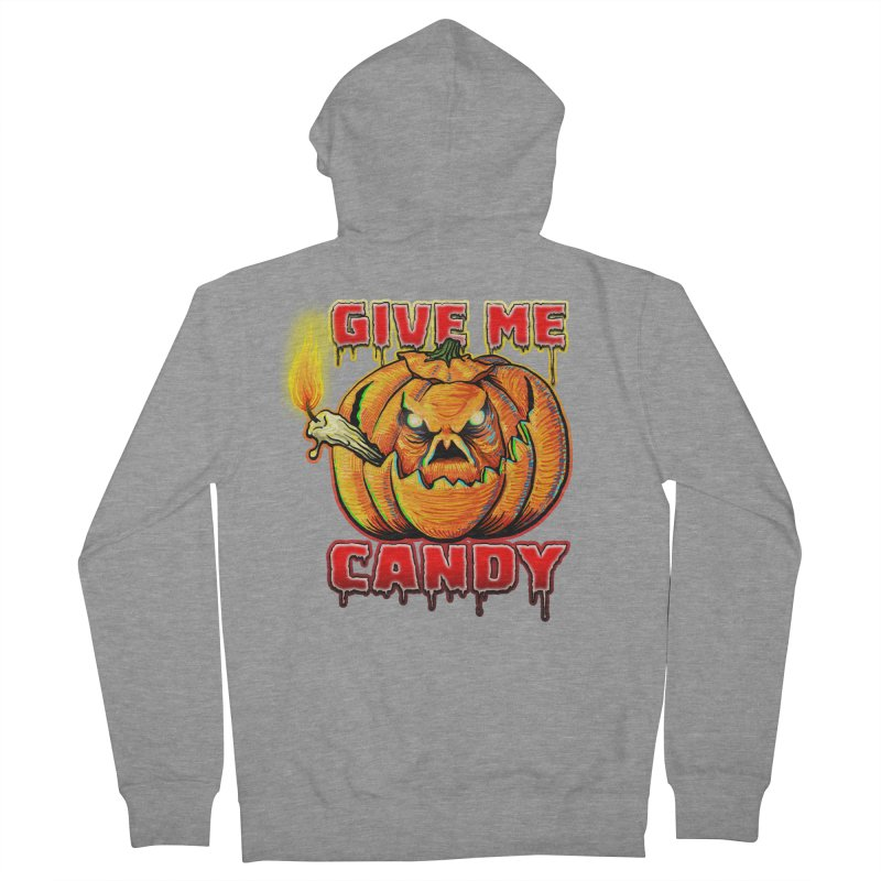 Give Me Candy Women's French Terry Zip-Up Hoody by Joe Abboreno's Artist Shop
