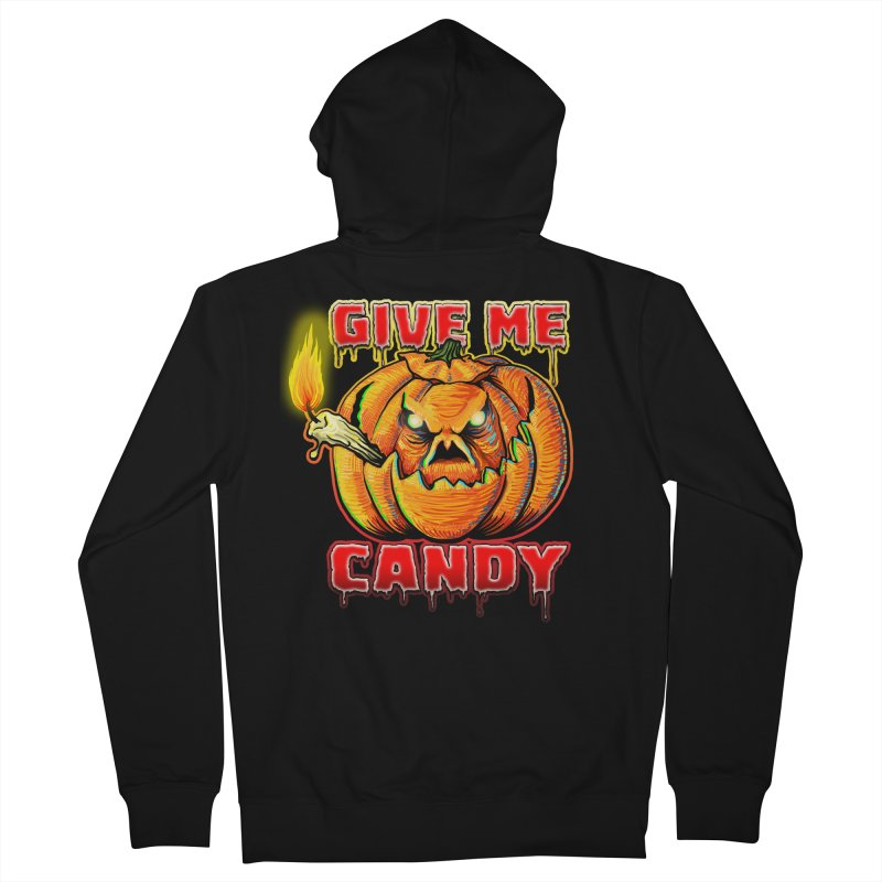 Give Me Candy Men's French Terry Zip-Up Hoody by Joe Abboreno's Artist Shop
