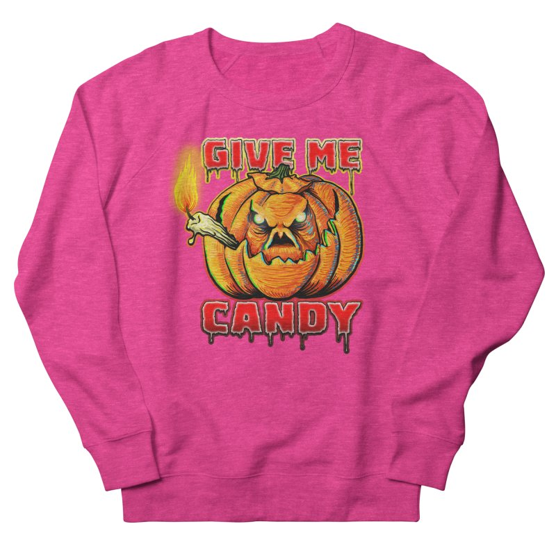 Give Me Candy Women's French Terry Sweatshirt by Joe Abboreno's Artist Shop