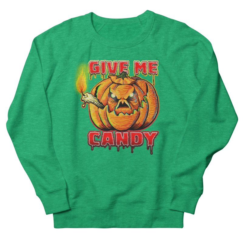 Give Me Candy Men's French Terry Sweatshirt by Joe Abboreno's Artist Shop