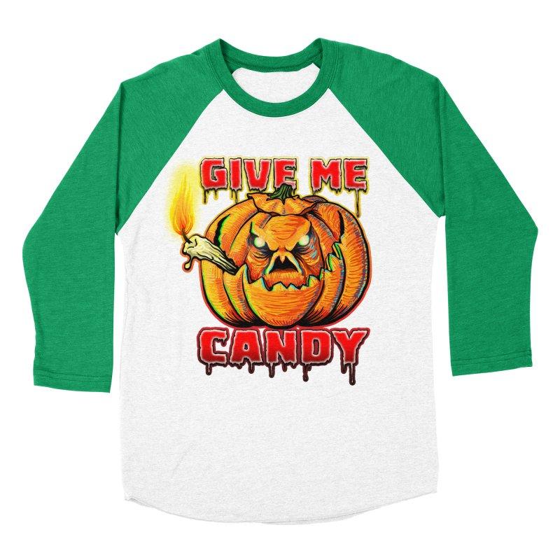 Give Me Candy Women's Baseball Triblend Longsleeve T-Shirt by Joe Abboreno's Artist Shop