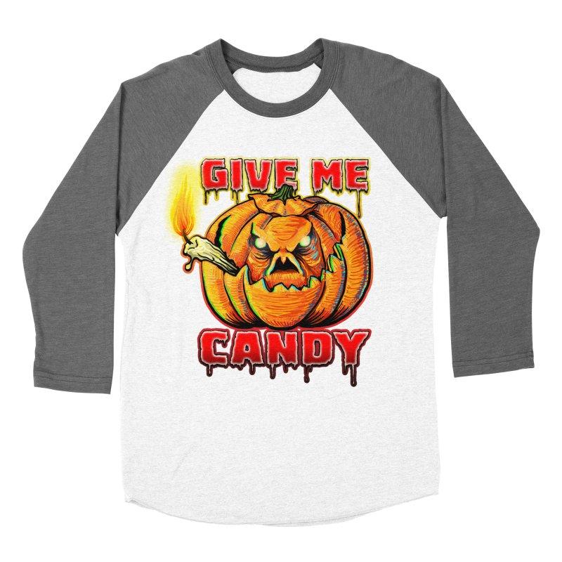 Give Me Candy Men's Baseball Triblend Longsleeve T-Shirt by Joe Abboreno's Artist Shop