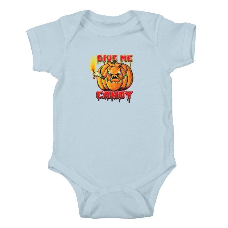 Give Me Candy Kids Baby Bodysuit by Joe Abboreno's Artist Shop