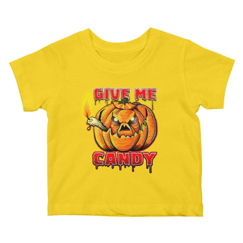 Give Me Candy Kids Baby T-Shirt by Joe Abboreno's Artist Shop