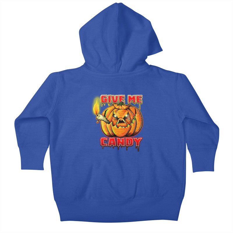 Give Me Candy Kids Baby Zip-Up Hoody by Joe Abboreno's Artist Shop