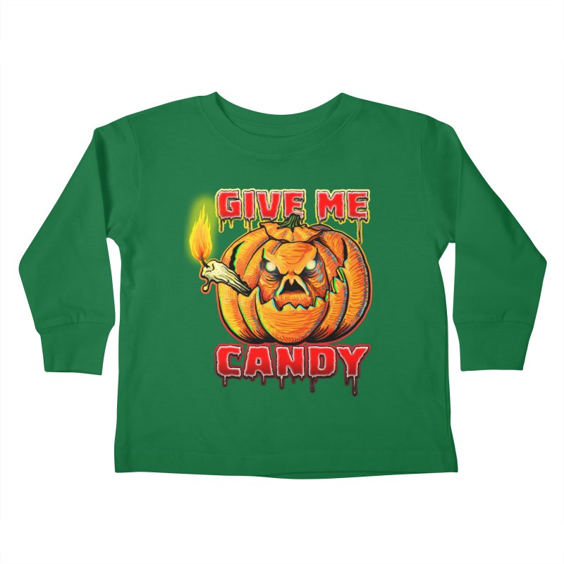Give Me Candy Kids Toddler Longsleeve T-Shirt by Joe Abboreno's Artist Shop