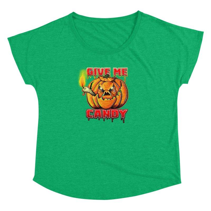 Give Me Candy Women's Dolman Scoop Neck by Joe Abboreno's Artist Shop