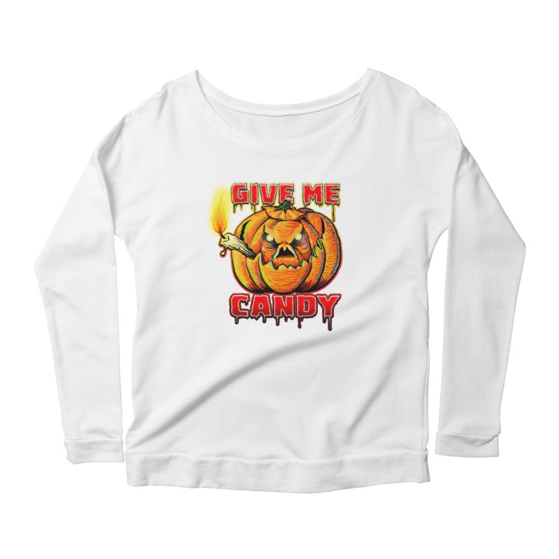 Give Me Candy Women's Scoop Neck Longsleeve T-Shirt by Joe Abboreno's Artist Shop
