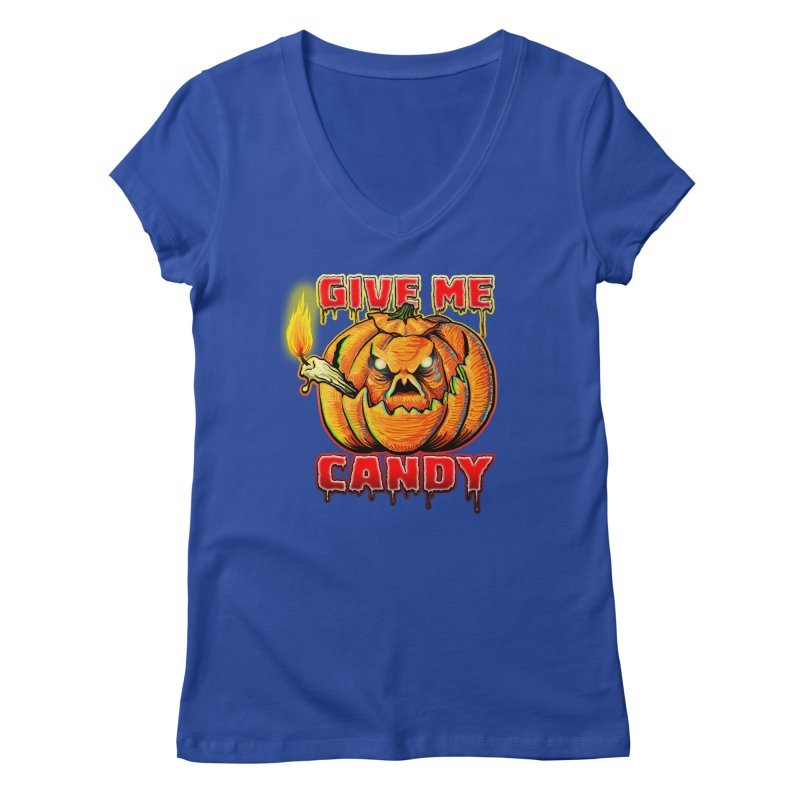 Give Me Candy Women's Regular V-Neck by Joe Abboreno's Artist Shop