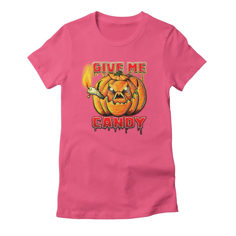 Give Me Candy Women's Fitted T-Shirt by Joe Abboreno's Artist Shop