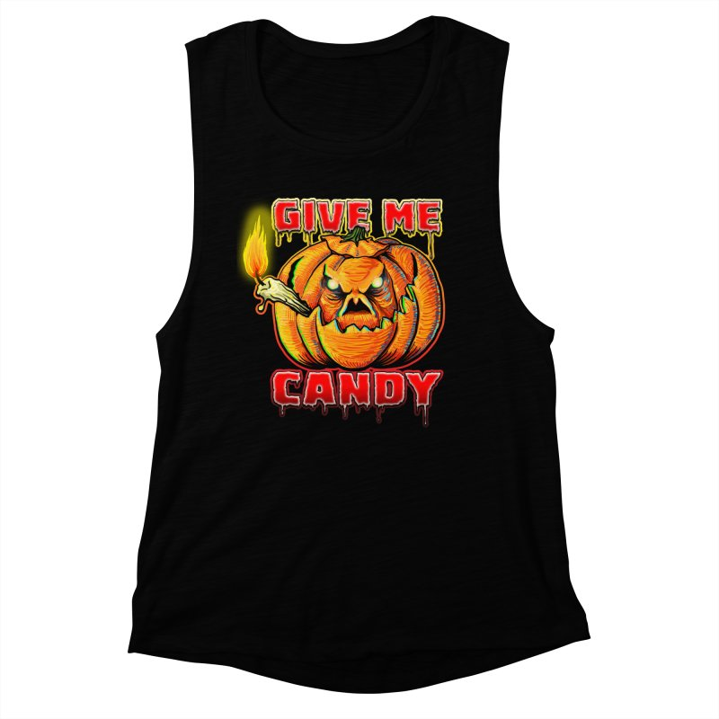 Give Me Candy Women's Muscle Tank by Joe Abboreno's Artist Shop