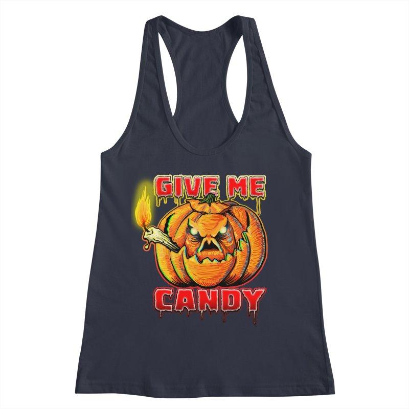 Give Me Candy Women's Racerback Tank by Joe Abboreno's Artist Shop