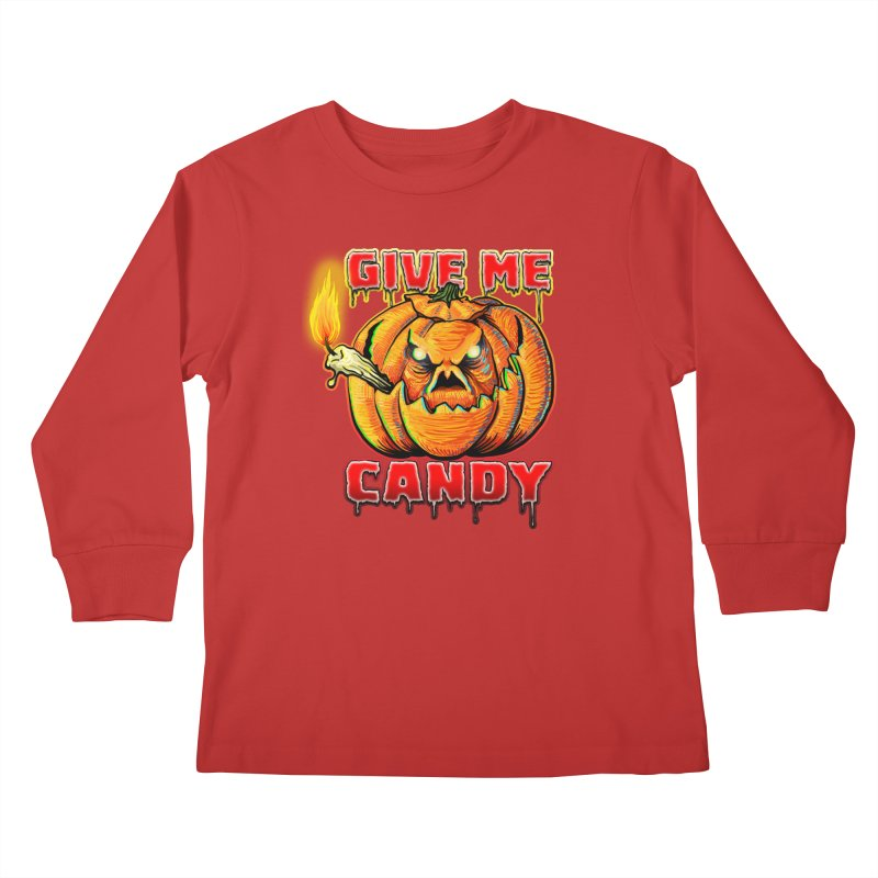 Give Me Candy Kids Longsleeve T-Shirt by Joe Abboreno's Artist Shop