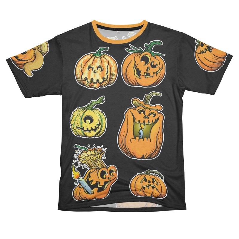 Jack-O-Lanterns Women's Unisex French Terry T-Shirt Cut & Sew by Joe Abboreno's Artist Shop