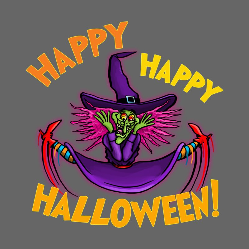 Happy Happy Halloween Witch! Men's T-Shirt by Joe Abboreno's Artist Shop