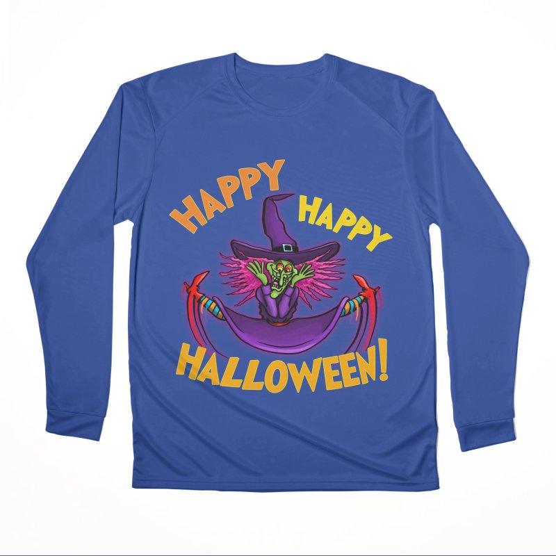 Happy Happy Halloween Witch! Men's Performance Longsleeve T-Shirt by Joe Abboreno's Artist Shop