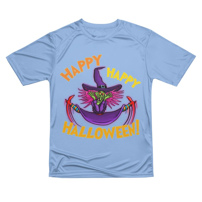 Happy Happy Halloween Witch! Women's Performance Unisex T-Shirt by Joe Abboreno's Artist Shop