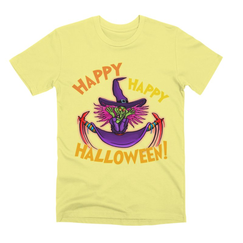 Happy Happy Halloween Witch! Men's Premium T-Shirt by Joe Abboreno's Artist Shop