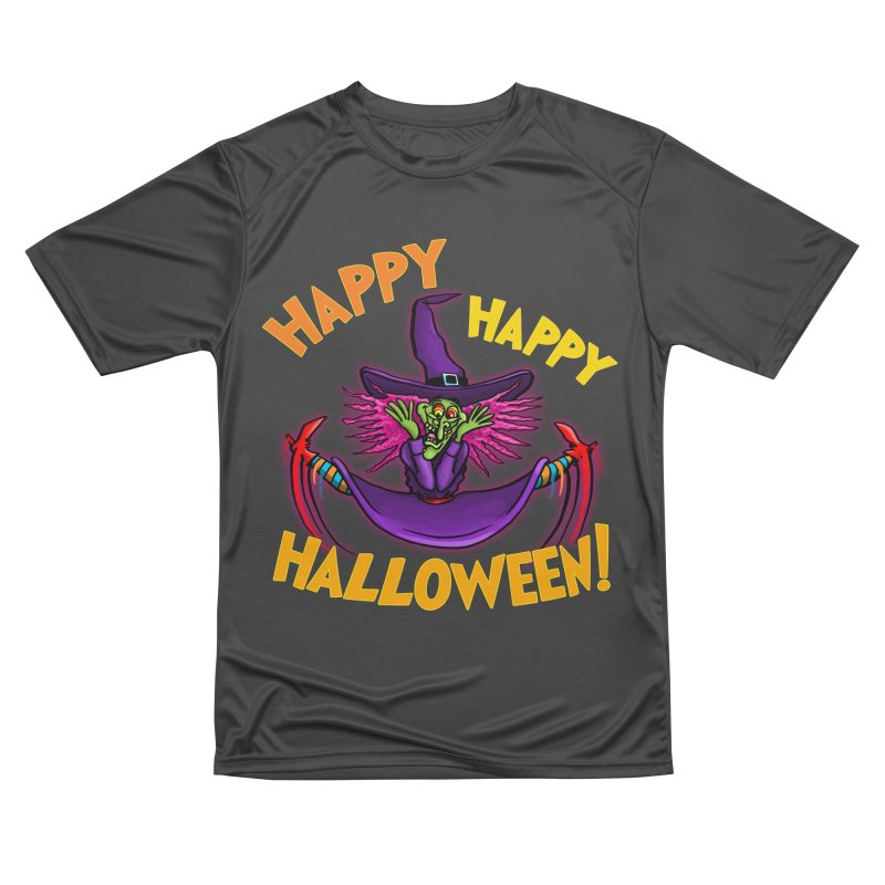 Happy Happy Halloween Witch! Men's Performance T-Shirt by Joe Abboreno's Artist Shop