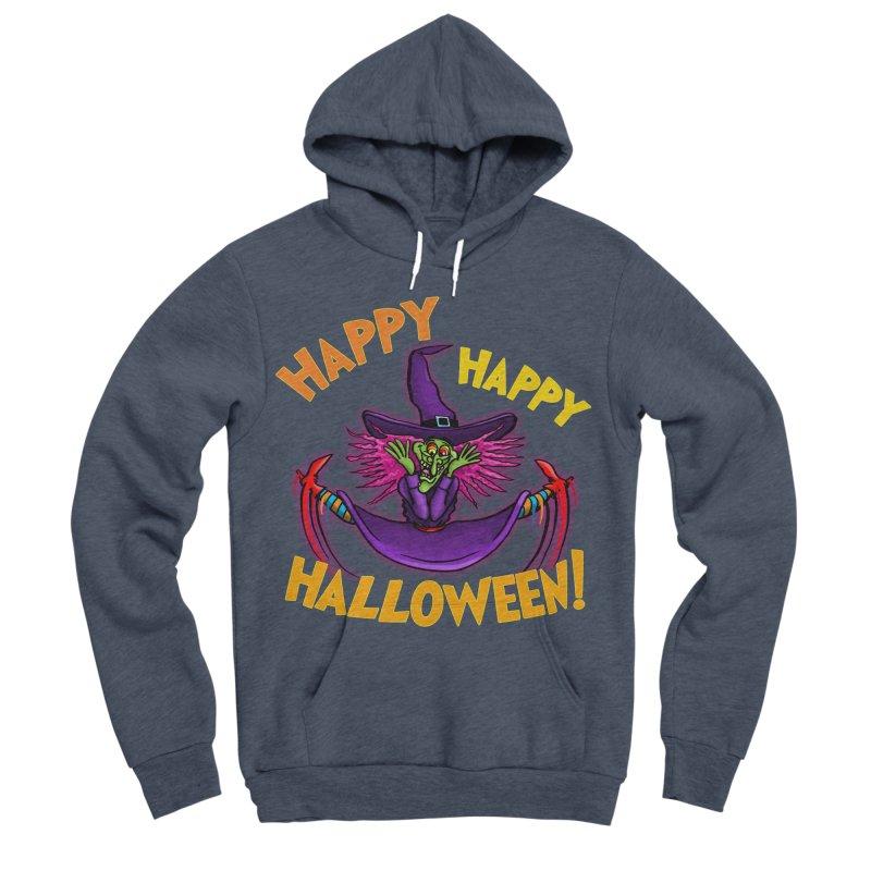 Happy Happy Halloween Witch! Men's Sponge Fleece Pullover Hoody by Joe Abboreno's Artist Shop