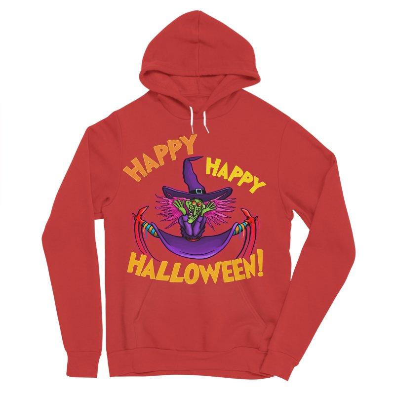 Happy Happy Halloween Witch! Women's Sponge Fleece Pullover Hoody by Joe Abboreno's Artist Shop