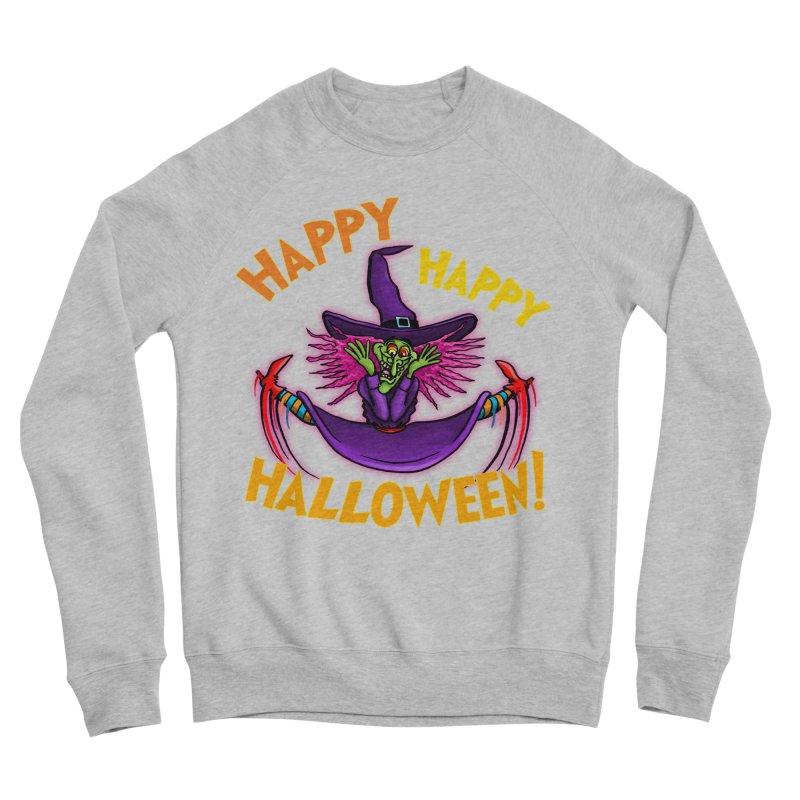 Happy Happy Halloween Witch! Men's Sponge Fleece Sweatshirt by Joe Abboreno's Artist Shop