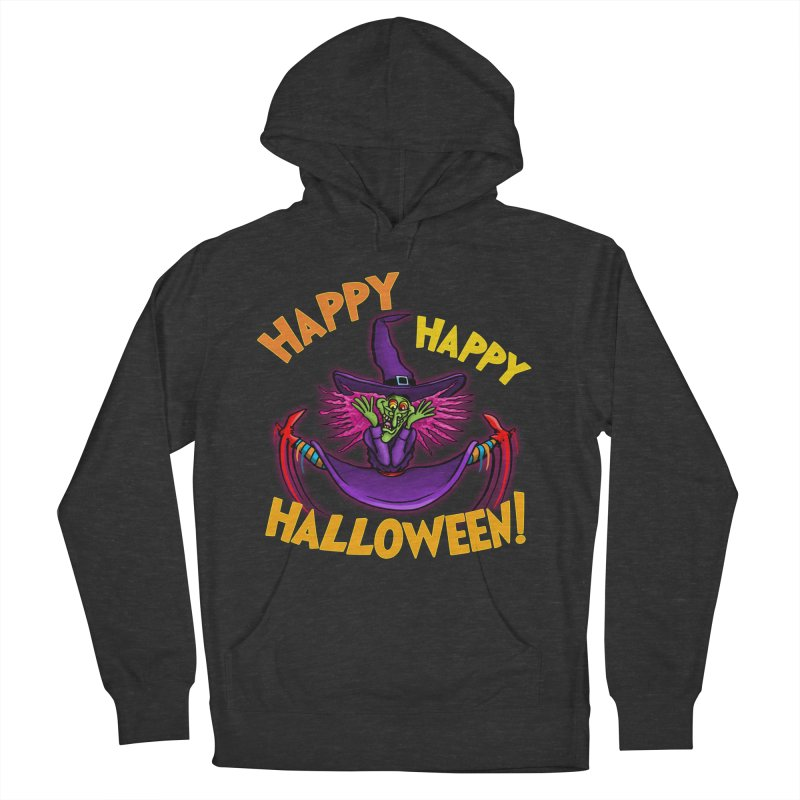 Happy Happy Halloween Witch! Women's French Terry Pullover Hoody by Joe Abboreno's Artist Shop