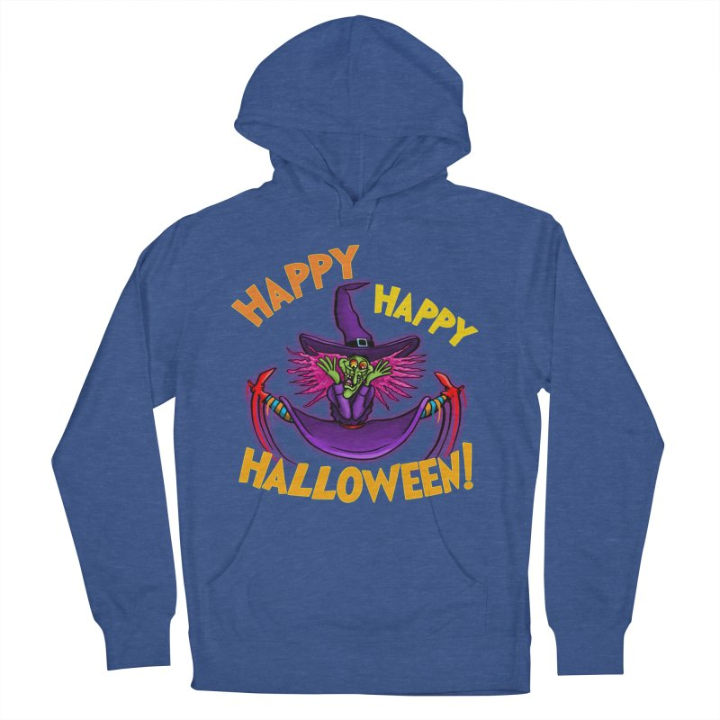 Happy Happy Halloween Witch! Men's French Terry Pullover Hoody by Joe Abboreno's Artist Shop