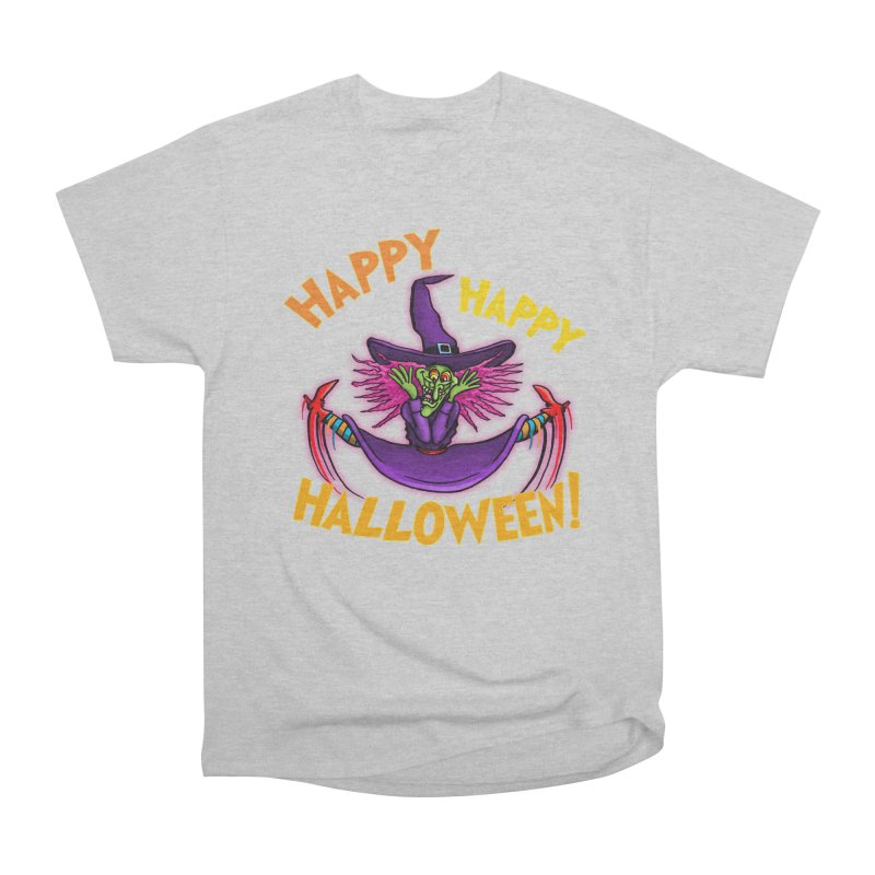 Happy Happy Halloween Witch! Men's Heavyweight T-Shirt by Joe Abboreno's Artist Shop