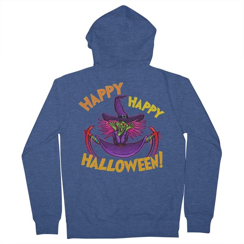Happy Happy Halloween Witch! Men's French Terry Zip-Up Hoody by Joe Abboreno's Artist Shop