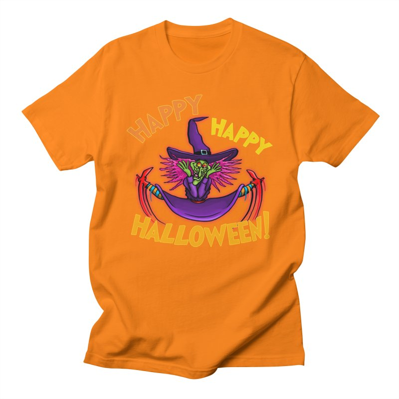 Happy Happy Halloween Witch! Women's Regular Unisex T-Shirt by Joe Abboreno's Artist Shop
