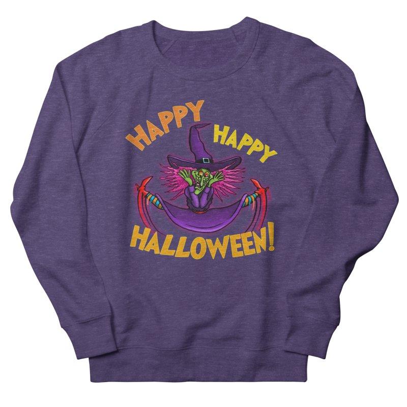 Happy Happy Halloween Witch! Men's French Terry Sweatshirt by Joe Abboreno's Artist Shop