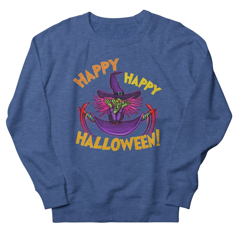 Happy Happy Halloween Witch! Men's French Terry Sweatshirt by Joe Abboreno's Artist Shop