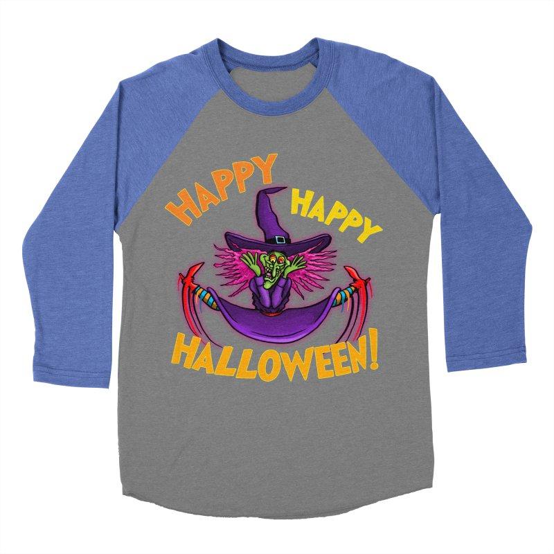 Happy Happy Halloween Witch! Women's Baseball Triblend Longsleeve T-Shirt by Joe Abboreno's Artist Shop
