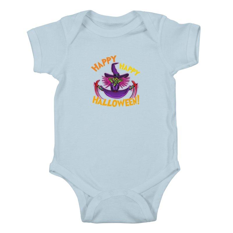 Happy Happy Halloween Witch! Kids Baby Bodysuit by Joe Abboreno's Artist Shop