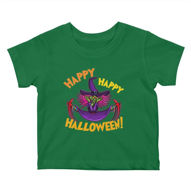 Happy Happy Halloween Witch! Kids Baby T-Shirt by Joe Abboreno's Artist Shop