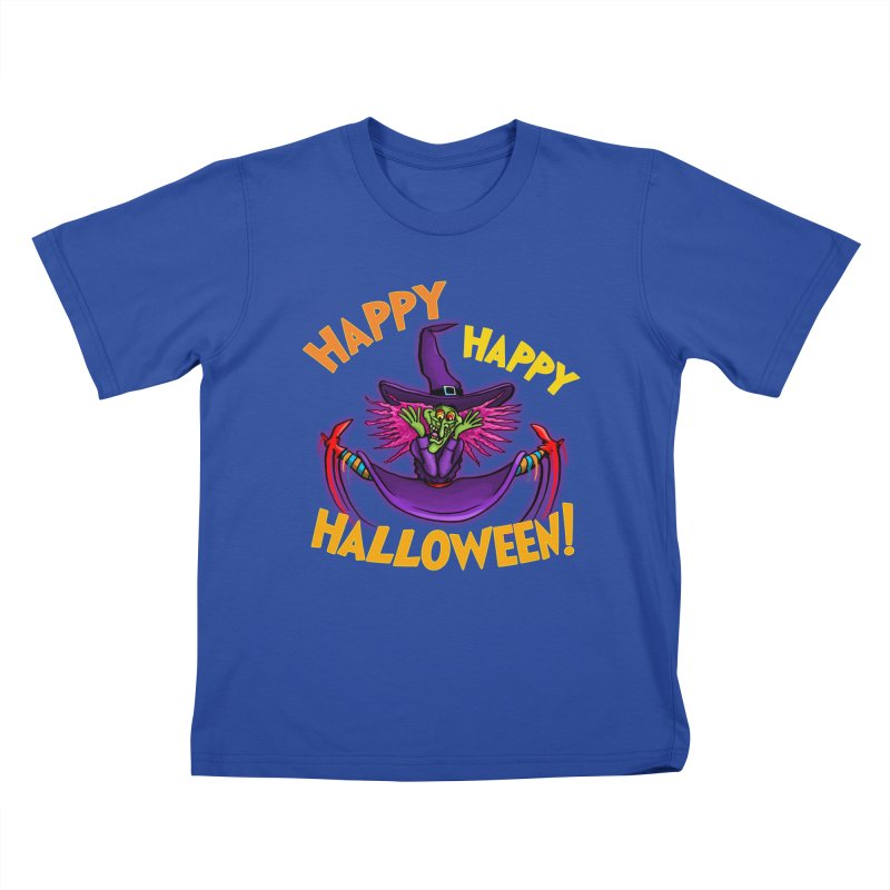 Happy Happy Halloween Witch! Kids T-Shirt by Joe Abboreno's Artist Shop