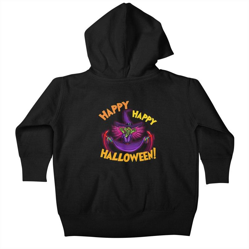 Happy Happy Halloween Witch! Kids Baby Zip-Up Hoody by Joe Abboreno's Artist Shop